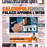 Gazzetta dello Sport: Calciopoli shock, Palazzi affonda l'Inter