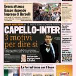 Gazzetta dello Sport: Capello-Inter, tre motivi per dire si