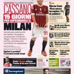 Gazzetta dello Sport: Cassano, 15 giorni per riprendersi il MIlan