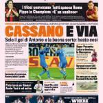 Gazzetta dello Sport: Cassano e via