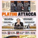 Gazzetta dello Sport: Platini attacca