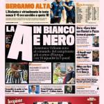 Gazzetta dello Sport: La A in bianco e nero