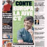 """Gazzetta dello Sport: Conte """"Europa, la Juve c'è"""""""