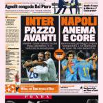 Gazzetta dello Sport: Inter Pazzo avanti