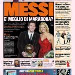 Gazzetta dello Sport: Messi è meglio di Maradona?