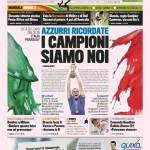 """La Gazzetta dello Sport: """"I campioni siamo noi"""""""