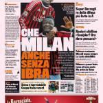 Gazzetta dello Sport: Che Milan anche senza Ibra