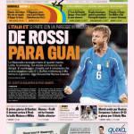 Gazzetta dello Sport: De Rossi Para Guai