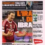 Gazzetta dello Sport: L'ira di Ibra