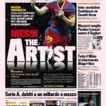 Gazzetta dello Sport: Messi the artist