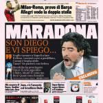 """Gazzetta dello Sport: Maradona """"Son Diego e vi spiego"""""""