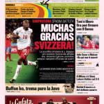 Gazzetta dello Sport: Muchas Gracias Svizzera!