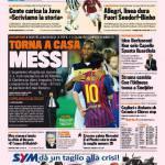 Gazzetta dello Sport: Torna a casa Messi