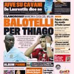 Gazzetta dello Sport: Balotelli per Thiago