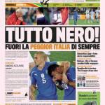 Gazzetta dello Sport: Tutto nero