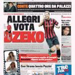 Gazzetta dello Sport: Allegri vota Dzeko