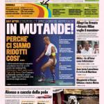 Gazzetta dello Sport: In mutande!