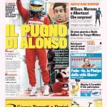 Gazzetta dello Sport: Il pugno di Alonso