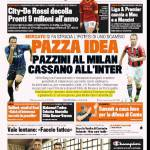 Gazzetta dello Sport: Pazza idea, Pazzini al Milan, Cassano all'Inter