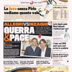 Gazzetta dello Sport: Allegri vs Inzaghi, Guerra e Pace