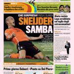 Gazzetta dello Sport: Sneijder samba!
