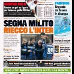 Gazzetta dello Sport: Segna Milito, riecco l'Inter