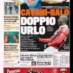 Gazzetta dello Sport: Cavani-Balo, doppio urlo