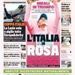 Gazzetta dello Sport: Coppa Italia, la Lazio vola e piglia tutto