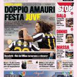 Gazzetta dello Sport: Doppio Amauri, festa Juve!