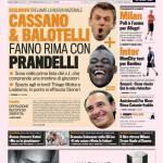 Gazzetta dello Sport: Cassano & Balotelli fanno rima con Prandelli