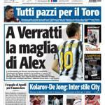 Tuttosport: A Verratti la maglia di Alex