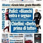 """Tuttosport: Pulici """"Bianchi entra e segna"""". Chiellini…"""