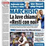 """Tuttosport: Marchisio, la Juve chiama """"Resti con noi"""""""