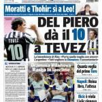 Tuttosport: Del Piero dà il 10 a Tevez
