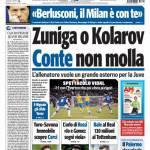 Tuttosport: Zuniga o Kolarov, Conte non molla