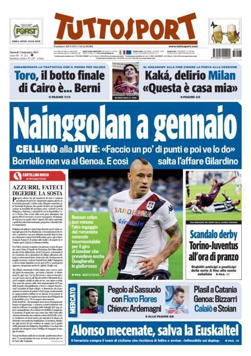260f95ce1408c Tuttosport  Nainggolan a gennaio - calciomercatonews.com