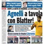 Tuttosport: Agnelli a tavola con Blatter