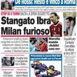 Corriere dello Sport: Stangato Ibra, Milan furioso