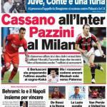 Corriere dello Sport: Cassano all'Inter Pazzini al Milan
