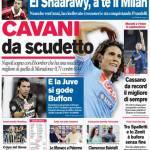 Corriere dello Sport: Cavani da Scudetto