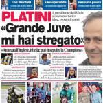 """Corriere dello Sport: Platini """"Grande Juve mi hai stregato"""""""