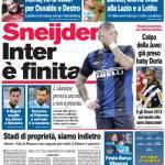 Corriere dello Sport: Sneijder, Inter è finita
