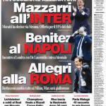 Corriere dello Sport: Benitez al Napoli, Allegri alla Roma