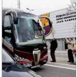 Barça in arrivo in pullman a Milano – Foto