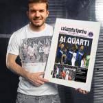 """Foto – Inter, sfottò su Facebook per il tecnico Stramaccioni: il romano """"festeggia"""" il passaggio ai quarti"""