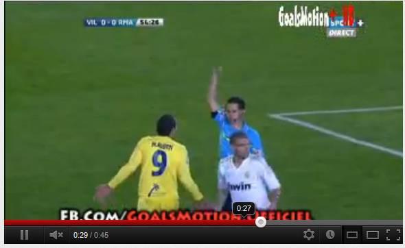 ruben Video   In Villarreal Real Madrid, Ruben riceve due gialli...ma non viene espulso!