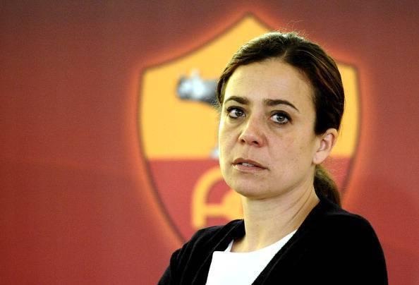 AS Roma president Rosella Sensi looks on