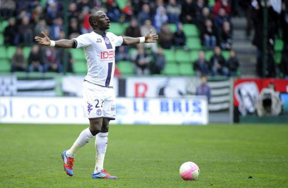 Toulouse's French midfielder Moussa Siss