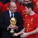 """Mondiali Sudafrica 2010, Juan Carlos ai Campioni del Mondo: """"Fate vibrare la Spagna"""""""