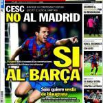 Sport: Cesc no al Madrid, sì al Barca